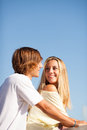 Young beautiful couple enjoying a summer day Royalty Free Stock Photography