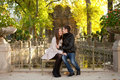 Young beautiful couple at fall Stock Image