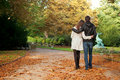 Young beautiful couple at fall Royalty Free Stock Photos