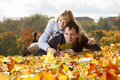 Young beautiful couple is laying Stock Photography
