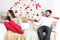 Young beautiful couple of loving man and woman Royalty Free Stock Photo