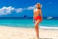 Young Beautiful Girl In Bikini...