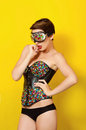 Young beautiful girl in  clothes Leather punk Royalty Free Stock Photo