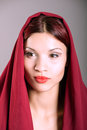 Young beautiful girl with veil portrait of Royalty Free Stock Photos
