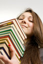 The young beautiful librarian Royalty Free Stock Photography