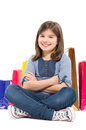 Young and beautiful shopping girl Royalty Free Stock Photo