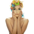 Young beautiful woman with butterfly Royalty Free Stock Photo