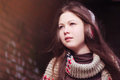 The young beautiful woman in a scarf Royalty Free Stock Photo
