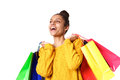 Young and beautiful woman with shopping bag Royalty Free Stock Photo