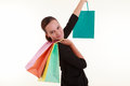 Young beautiful woman with shopping bags Royalty Free Stock Image