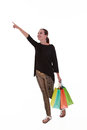 Young beautiful woman with shopping bags Royalty Free Stock Photo