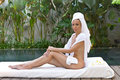 Young beautiful woman to Spa procedures Royalty Free Stock Image