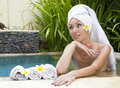 The young beautiful woman to Spa procedures Stock Image
