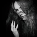 Young beautiful woman in the veil prtrait of Royalty Free Stock Images
