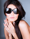 Young beautiful woman wearing sunglasses Royalty Free Stock Photo