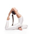 Young beautiful woman yoga posing. isolated Royalty Free Stock Photo