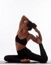 Young Beautiful Yoga Female Po...