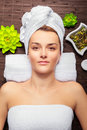 Young beauty woman spa Royalty Free Stock Photo
