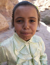 Young bedouin girl petra Royalty Free Stock Photos