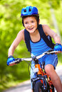 Young bicyclist Stock Photos
