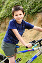 Young biker Stock Photography