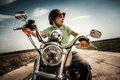 Young biker Royalty Free Stock Photo