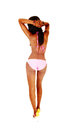 Young bikini girl from back. Royalty Free Stock Photos