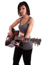 Young black woman playing  guitar Stock Photo