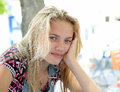 Young blond female teenager Royalty Free Stock Photo
