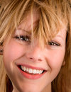 Young Blonde Girl with Messy Hair Royalty Free Stock Photos