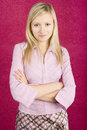 Young  blonde woman standing Royalty Free Stock Photography
