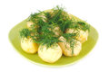 The young boiled potatoes with dill Royalty Free Stock Photography