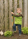 Young boy child Gardener Royalty Free Stock Photography