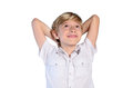 Young boy dreaming Royalty Free Stock Photo
