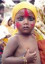A young boy in Festival of Cows-Gaijatra