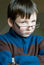 Young boy with glasses Royalty Free Stock Photos
