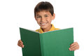 Young Boy Holding Book Stock Photo