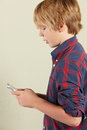 Young Boy Holding Tablet Computer Royalty Free Stock Photography