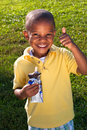 Young boy with ice cream Royalty Free Stock Images
