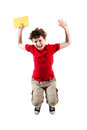 Young boy jumping Royalty Free Stock Photos