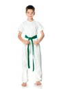 Young boy in kimono Royalty Free Stock Photo