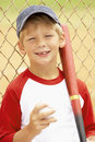 Young Boy Playing Baseball Stock Images