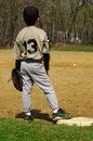 Young boy playing baseball Royalty Free Stock Photo
