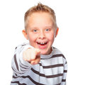 Young boy pointing at you Stock Photography