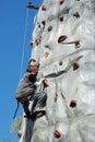 Young Boy Rock Climbing Royalty Free Stock Photo