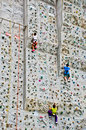 Young boy rock climbing Royalty Free Stock Photo