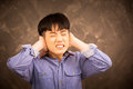 Young boy stress Royalty Free Stock Photo