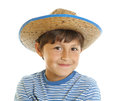 Young boy in toy cowboy hat Stock Photos