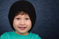 Young Boy with Winter Hat Royalty Free Stock Photo