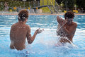 Young boys in swimming pool Stock Image